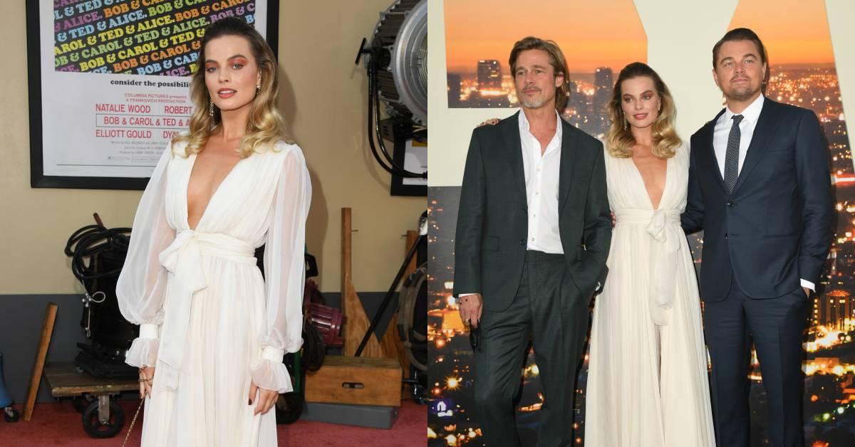 瑪格羅比出席《從前,有個好萊塢》首映!用Chanel透膚高級訂製服搶鏡李奧納多與小布