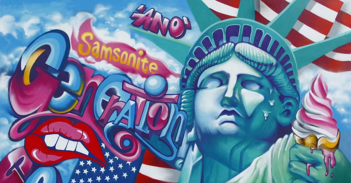松菸新打卡聖地!「Samsonite任意門」用藝術塗鴉帶妳環遊世界!