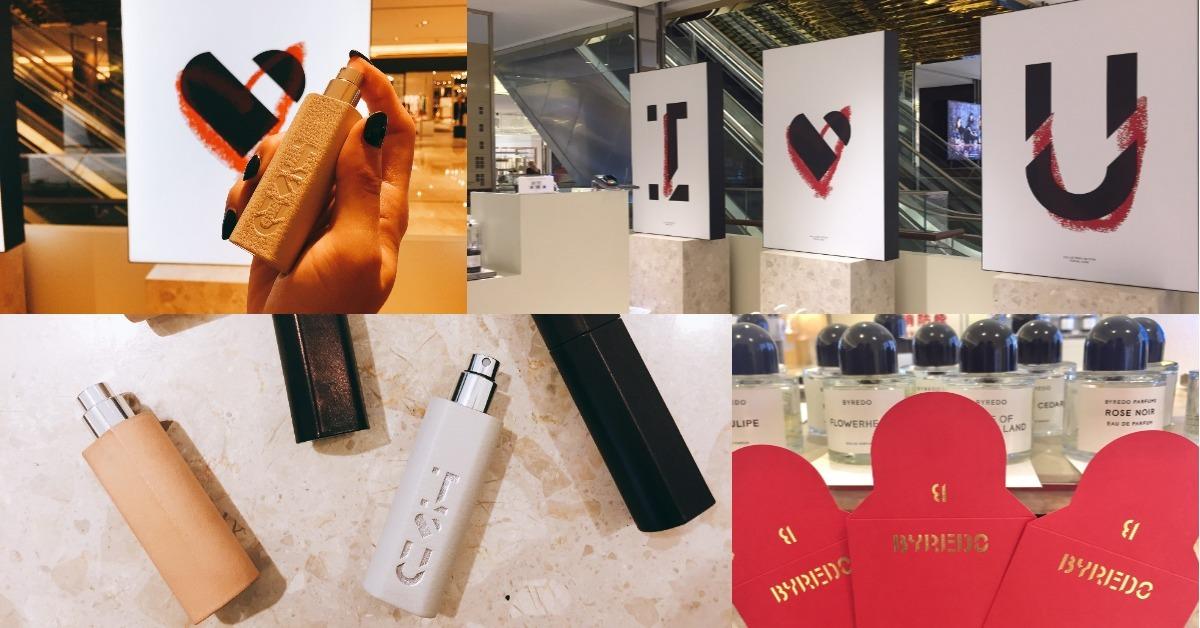 Byredo瓶身設計的紅包袋,加上情人節限定皮革旅行瓶,空氣中瀰漫著濃濃的戀愛氣息!