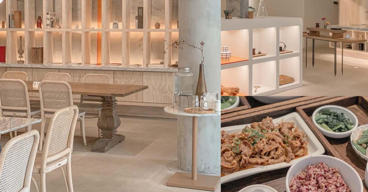"""高雄咖啡廳推薦「抱一茶屋」!純白奶茶色設計呼應美術館藝術空間,賣氣氛也賣""""辦桌菜""""!"""