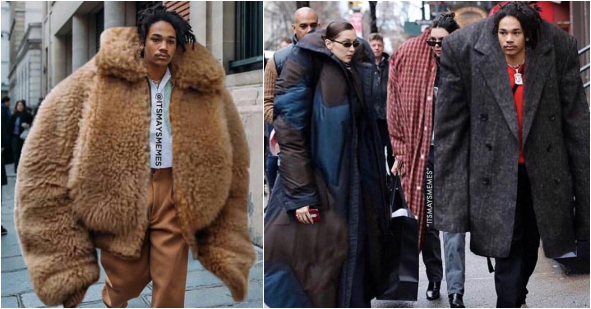 惡搞時尚看了好療癒!16歲男孩讓貝拉哈蒂德、肯伊威斯特穿上XXL服裝IG爆紅