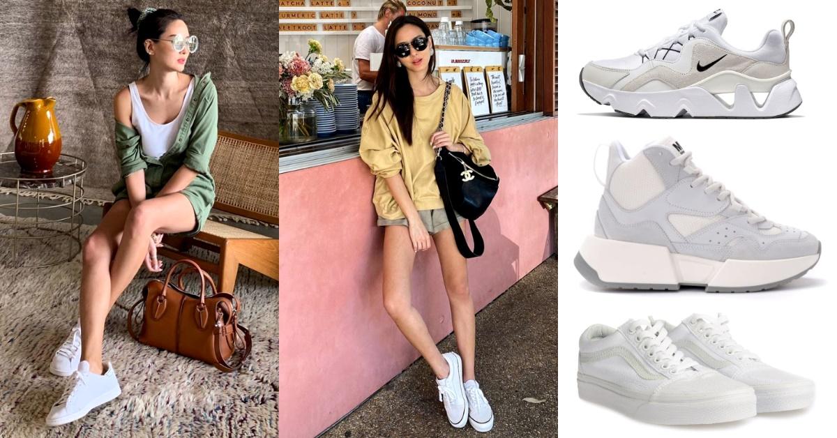 孫芸芸認證的4款小白鞋!Nike、Keds、Vans..襯出大長腿,白鞋控千萬別錯過