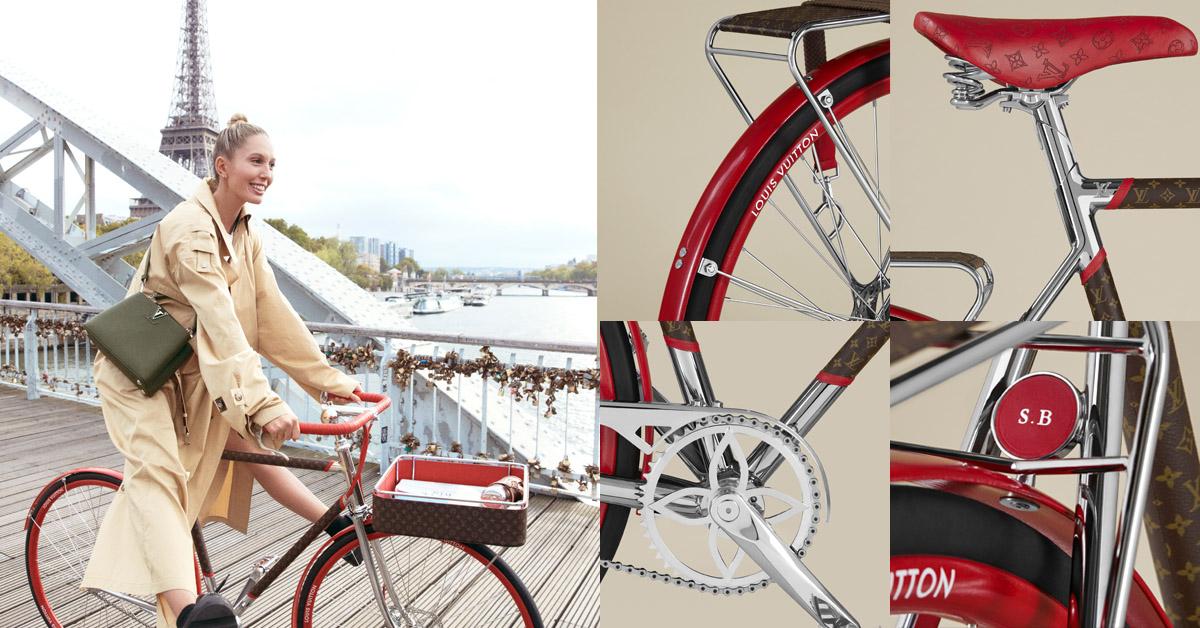 LV老花跳上自行車 !巴黎百年老廠手工打造,96萬一台騎到路上太浪費啦!