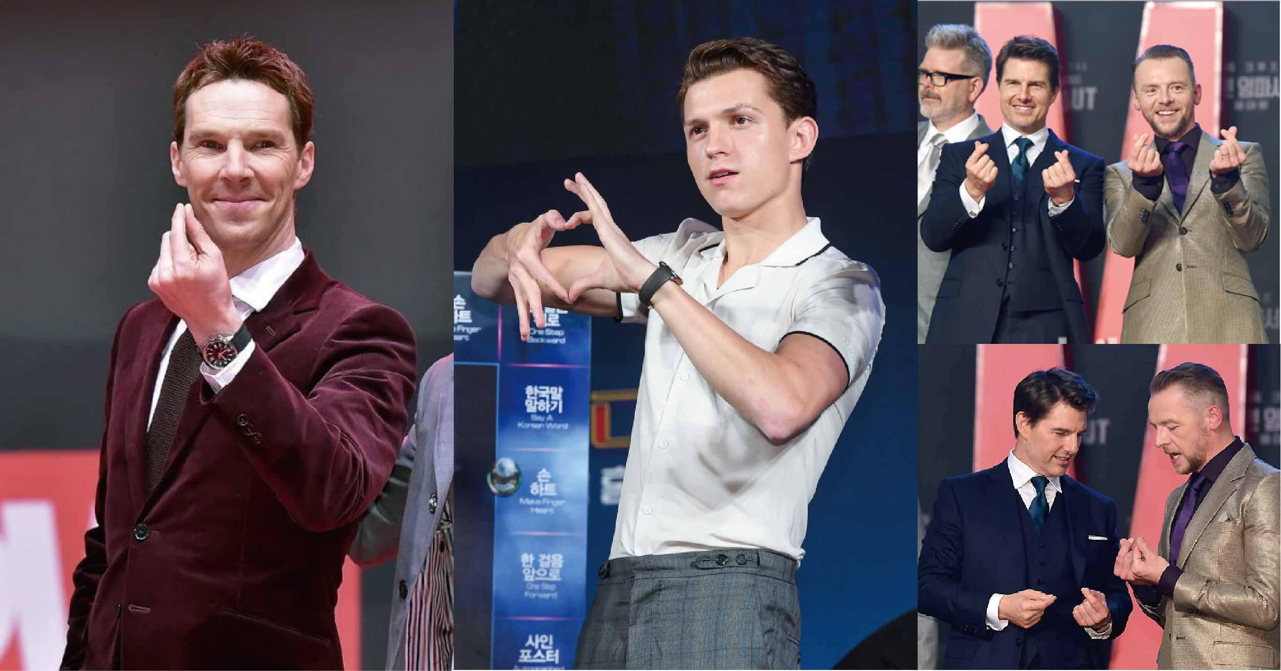 好萊塢明星都有「手指愛心障礙」?到韓國宣傳入境隨俗最後都崩壞啦