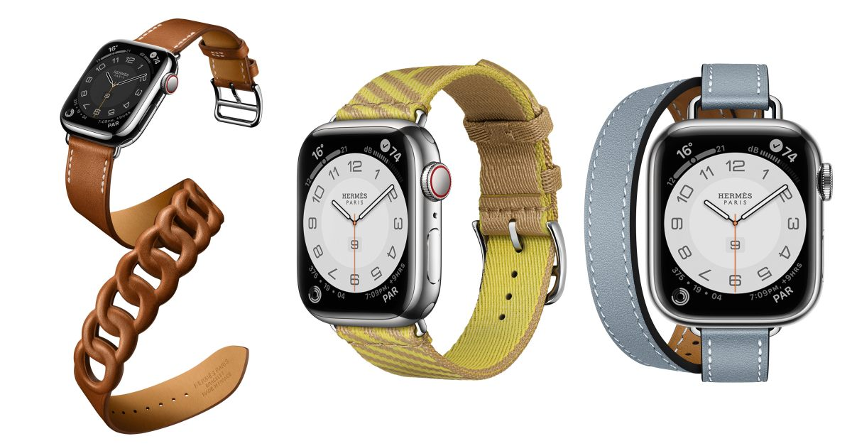 Hermès第七代AppleWatch錶帶登場!亞麻藍、萊姆黃真的美翻,經典「皮革鏈帶」奢華品味再升級