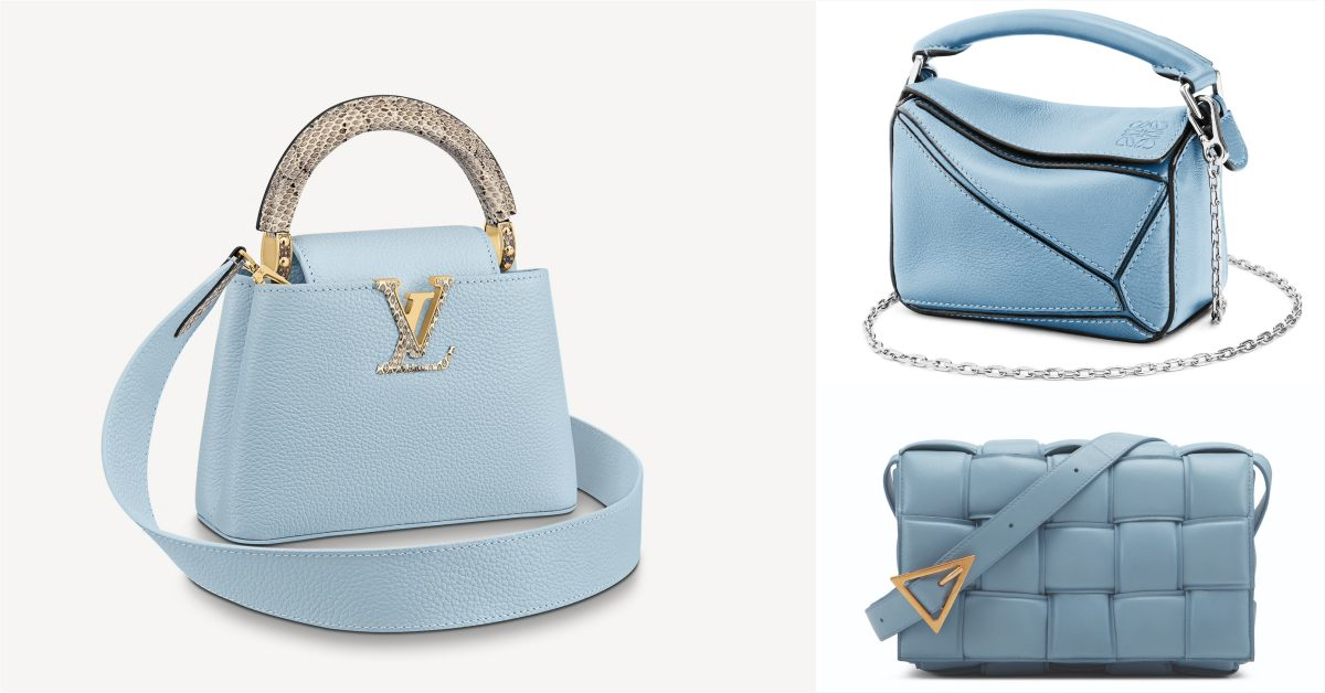 2021包包推薦 「寶寶藍」Top10!LV、Gucci、Celine..BV寬版編織郵差包櫃上很搶手!