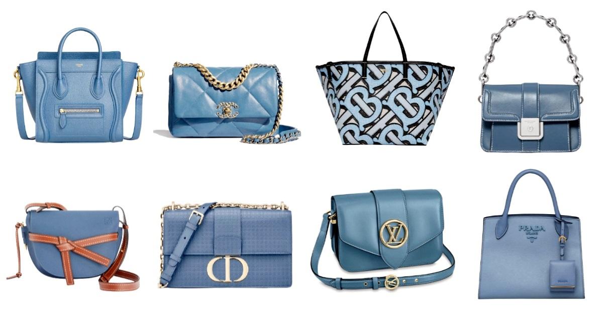 """2020秋冬包包跟著「迷霧藍」走!Chanel、LV、Celine...盤點10款""""全天候""""包款"""