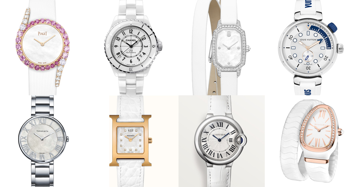 腕錶推薦「白色系」Top 13!Chanel、Cartier、Tiffany到Hermès…時髦OL絕對值得入手