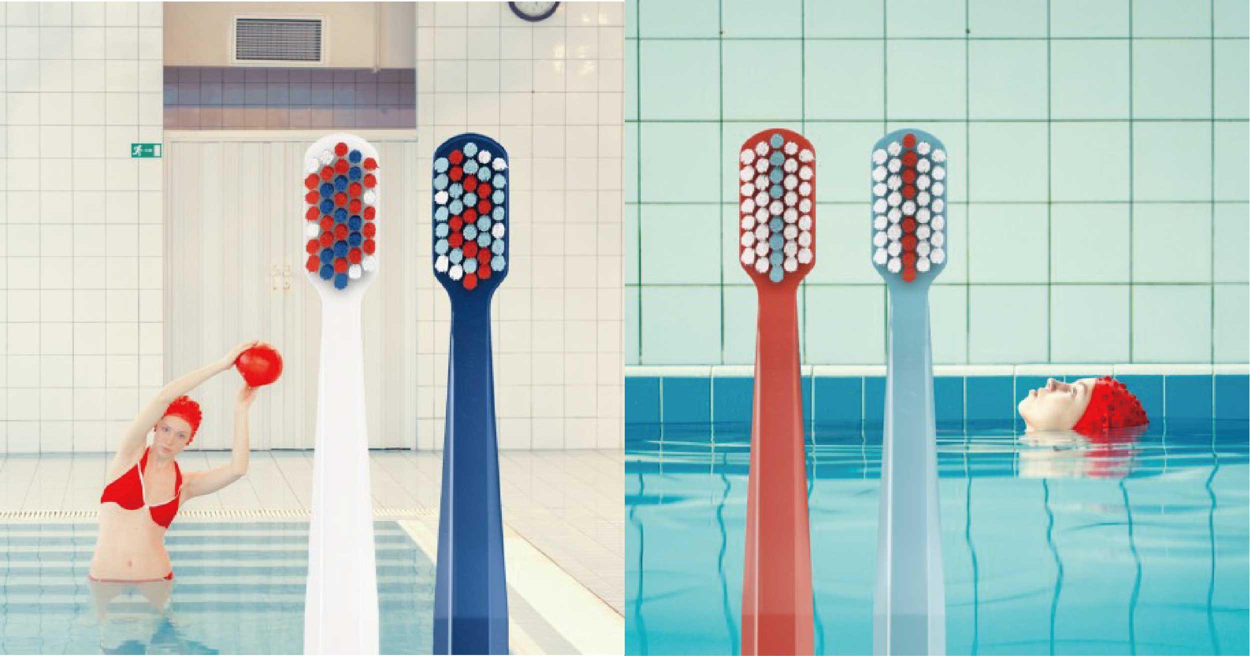 超時髦牙刷廣告!曾拍田馥甄專輯封面,Maria Svarbova刷新對日常用品想像