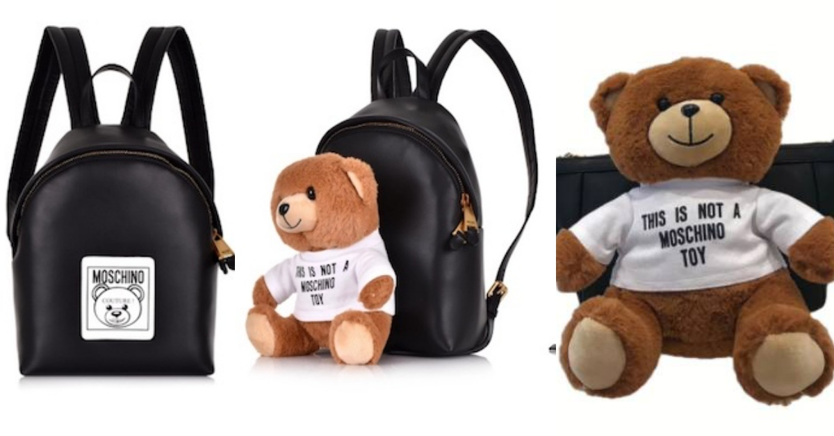 Moschino新款包榨乾荷包!經典小熊竟然還能拆下來當玩偶?