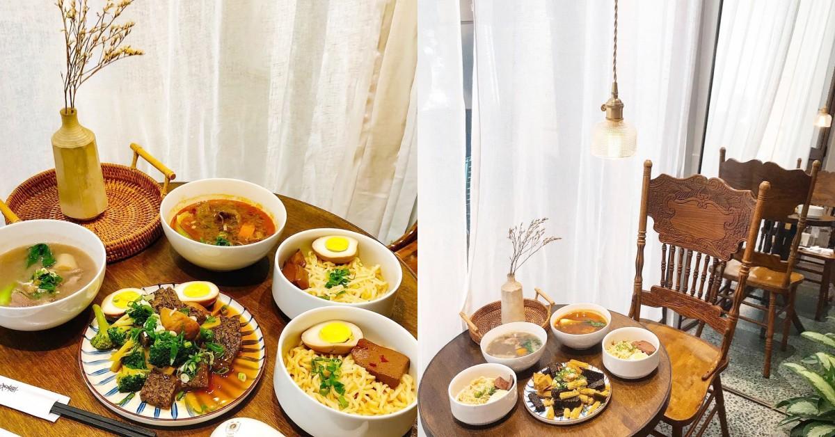 高雄也有「最美麵店」!小吃攤大變身,在這4間文青裝潢吃傳統麵超有風味