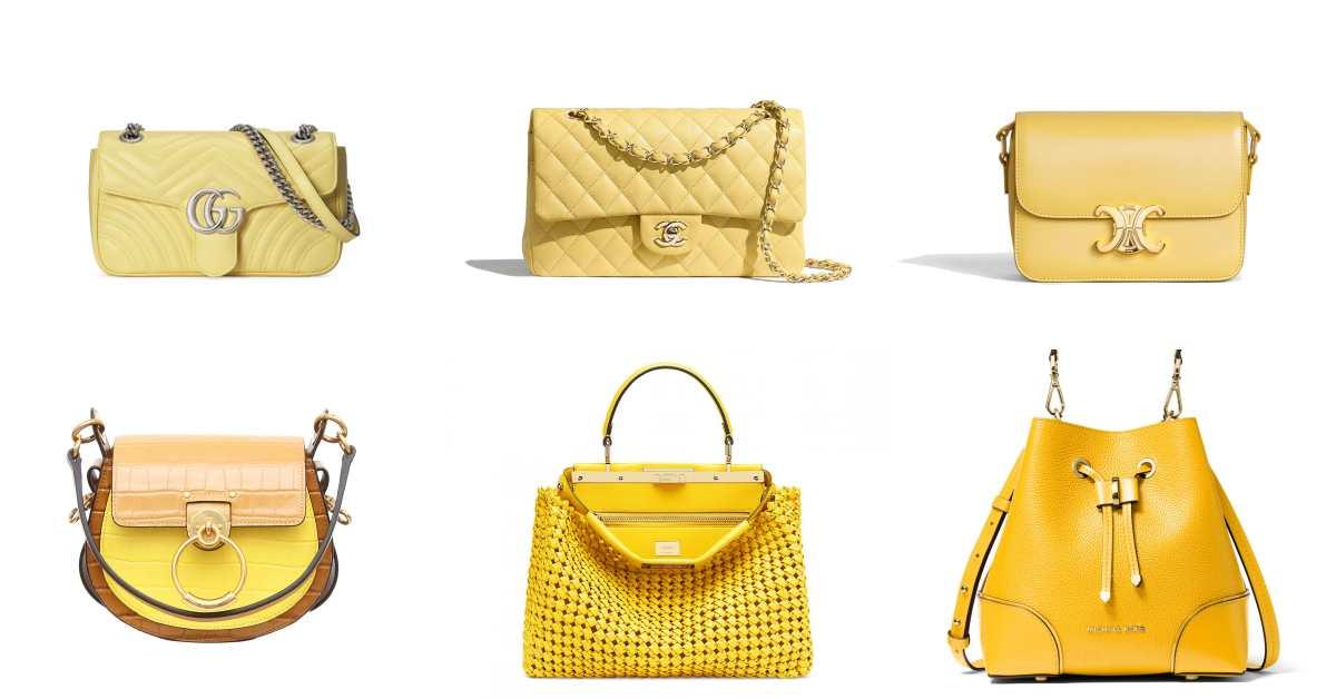 酪梨先退下!Celine、Bvlgari到Gucci都狂推,15款「檸檬黃」包包2020夏天必收!