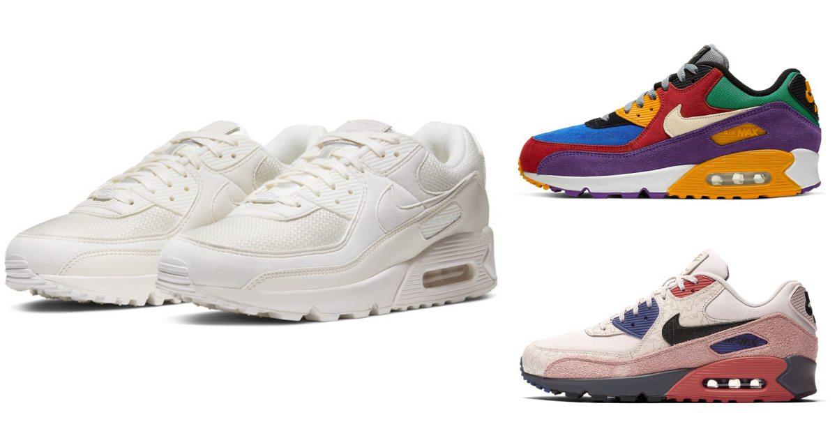 Nike增高鞋AirMax90誕生30年!推出奶茶白、珊瑚橘、螢光粉配色夢幻新款