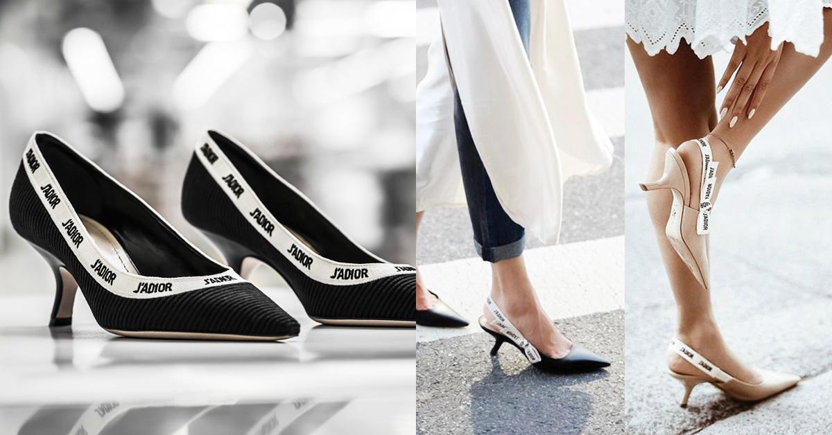J'adior低跟鞋又推新款囉!Dior這雙優雅又時髦,燒翻女星、部落客