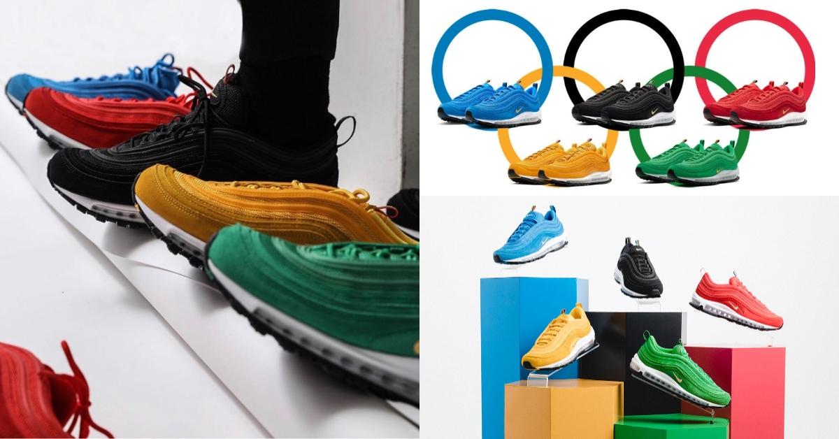 Nike奧運鞋大完勝!五環配色Air Max 97「子彈鞋」全員到齊,網友:準備揪團搶鞋啦!