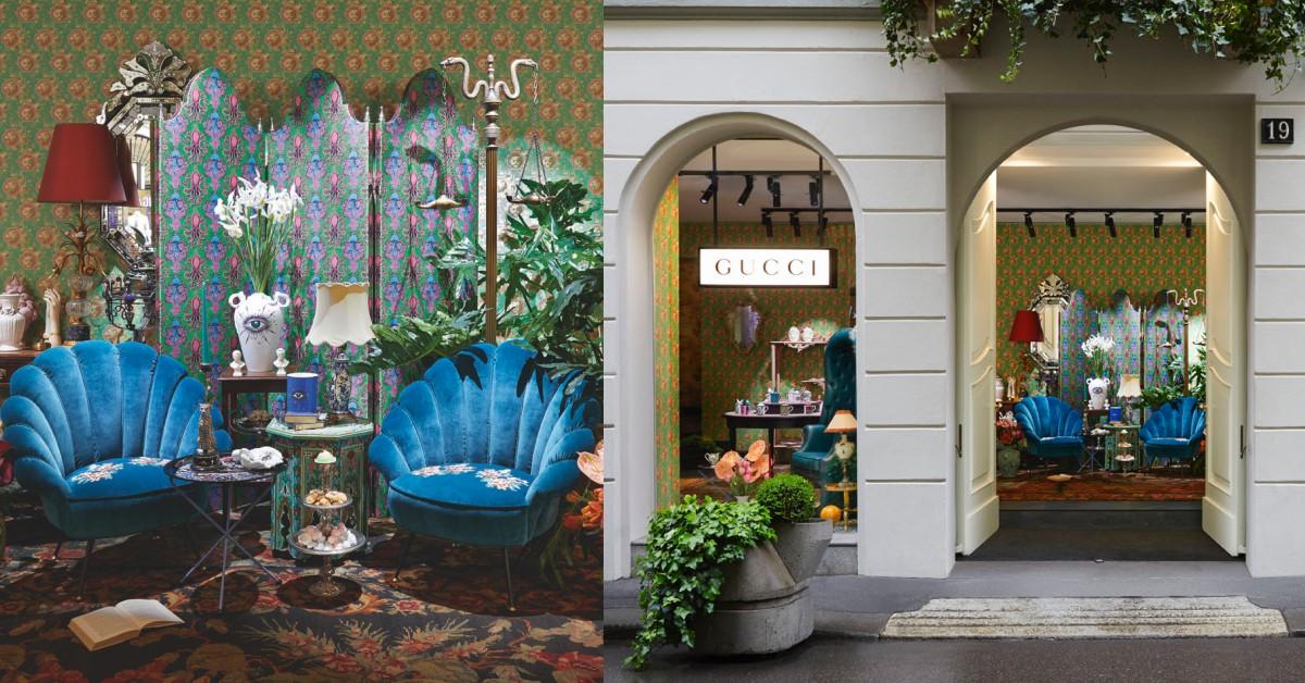 把家裡變成時尚宮殿!Gucci Décor家飾貝殼扶手椅、精美瓷器米蘭絕美登場