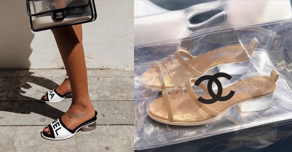 透明跟、PVC一定要來一雙!2019夏天Chanel「這雙拖鞋」紅翻IG