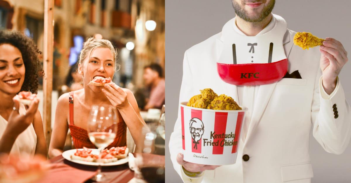 2021肯德基炸雞推出「炸雞圍兜兜」!「瘋狂炸雞俱樂部」研發「吃雞神器」,牢牢接住酥脆美味