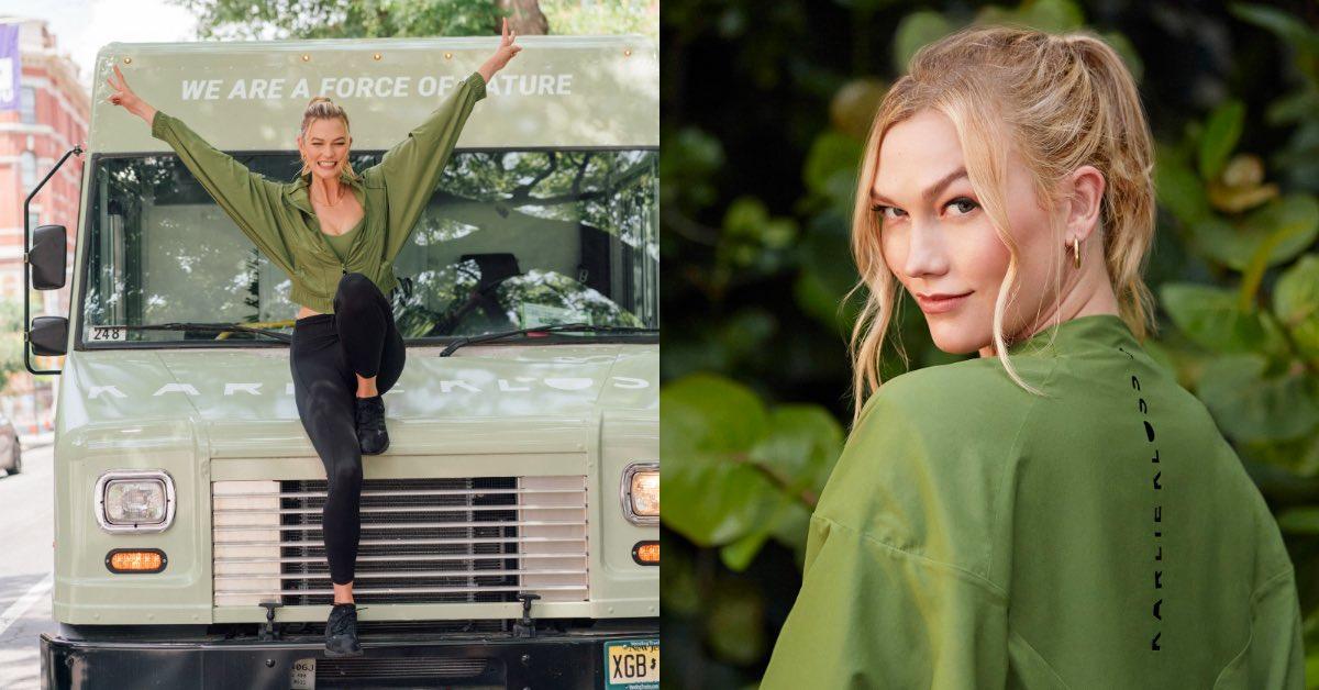 Karlie Kloss Adidas聯名主打「抹茶綠」!28歲超模褪下維密光環 ,運動內衣、緊身褲產後完美再復出