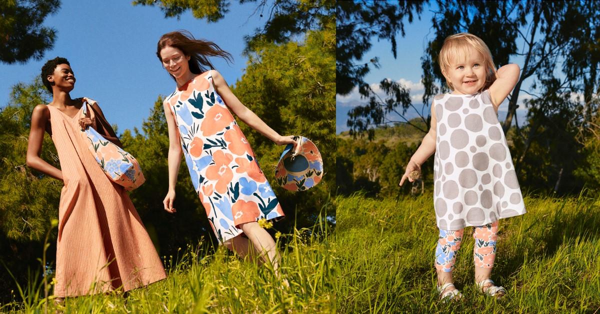 Uniqlo五度聯名Marimekko!7款「人氣印花」登場,細肩帶洋裝對抗高溫,這款肩背包男女生通殺