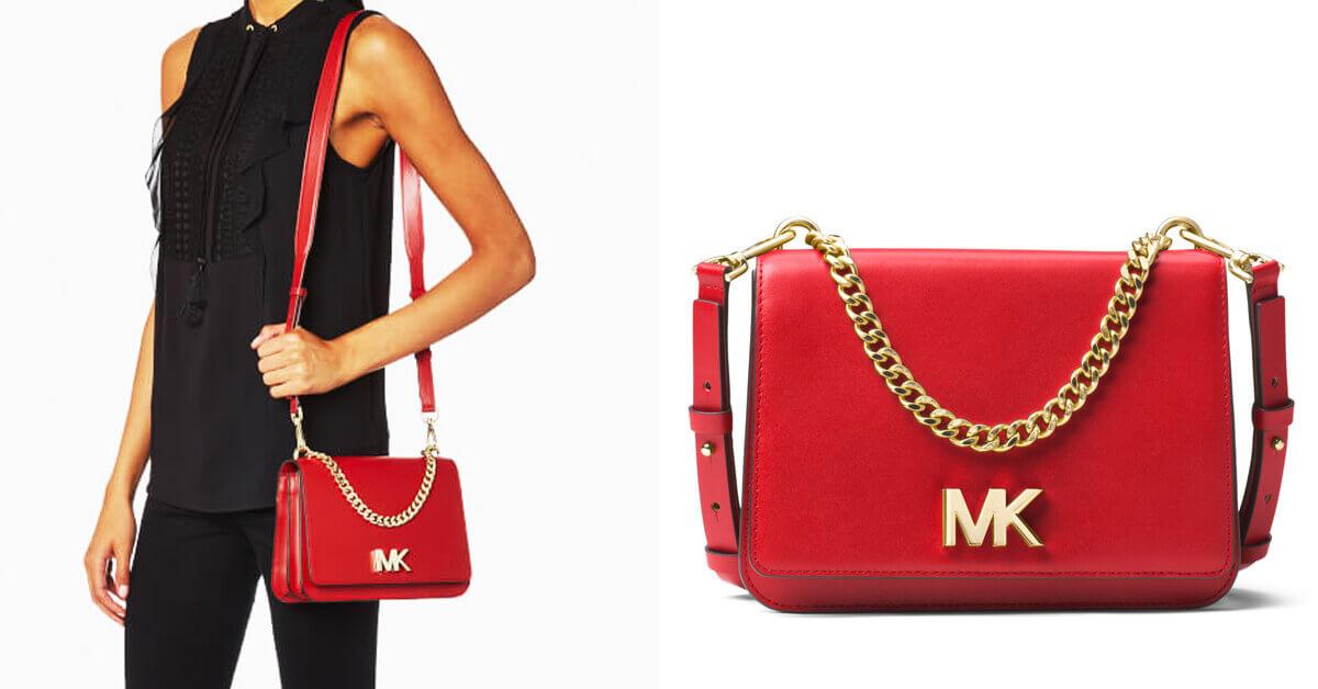 【2017聖誕倒數 Day 3 】MICHAEL KORS絕美之紅MOTT金屬鍊帶包,為妳畫龍點睛整個秋冬!