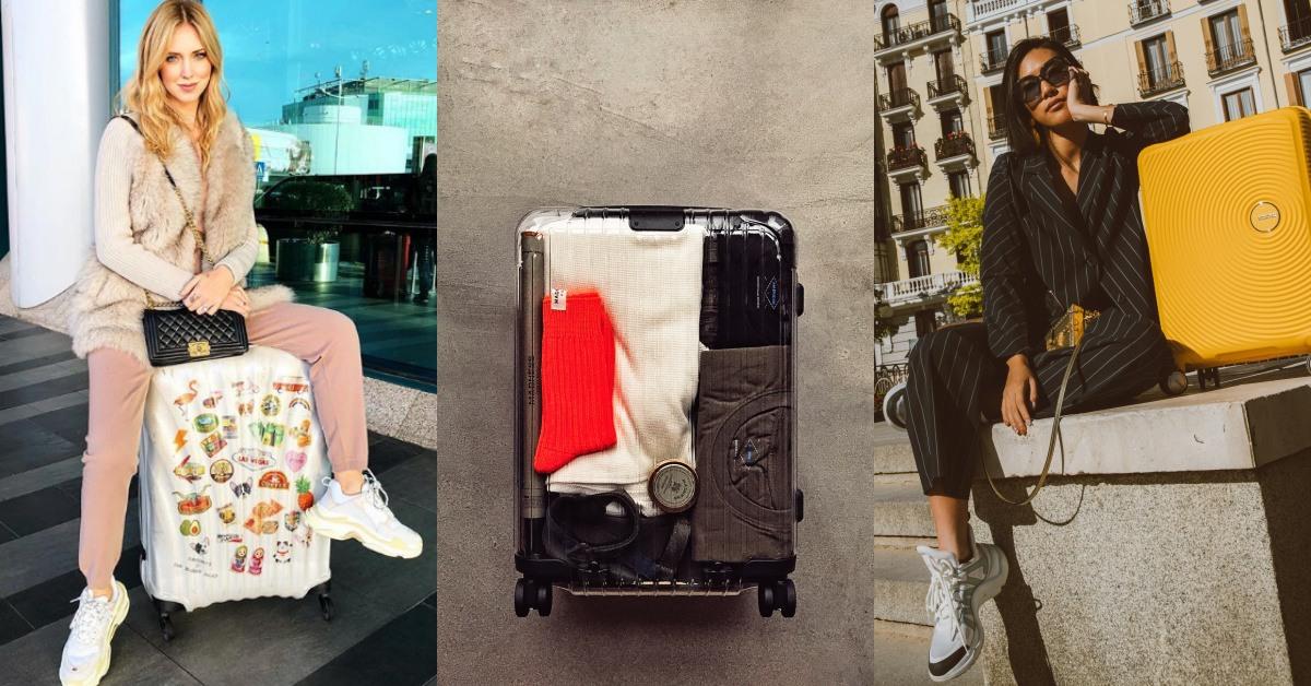 機場堪比秀場!除了機場穿搭外,看這些潮人怎麼用這4個牌子的行李箱時髦制霸