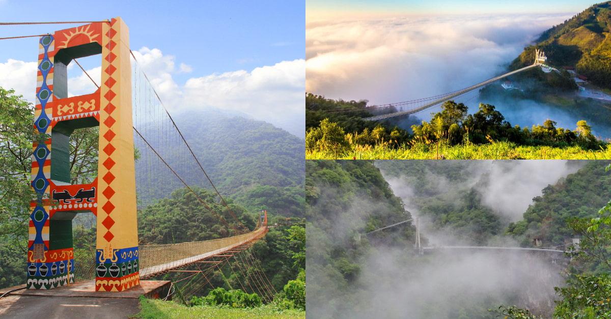 「台灣特色吊橋」推薦這5座!34層樓高「全台最深」在南投,花蓮「山月吊橋」日本警察看了想辭職!