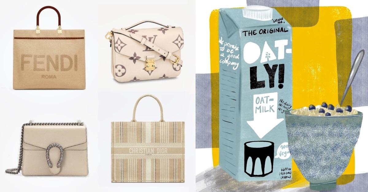 奶茶色包包先退下!LV、Dior、Fendi....春夏包包關鍵字是「燕麥色」