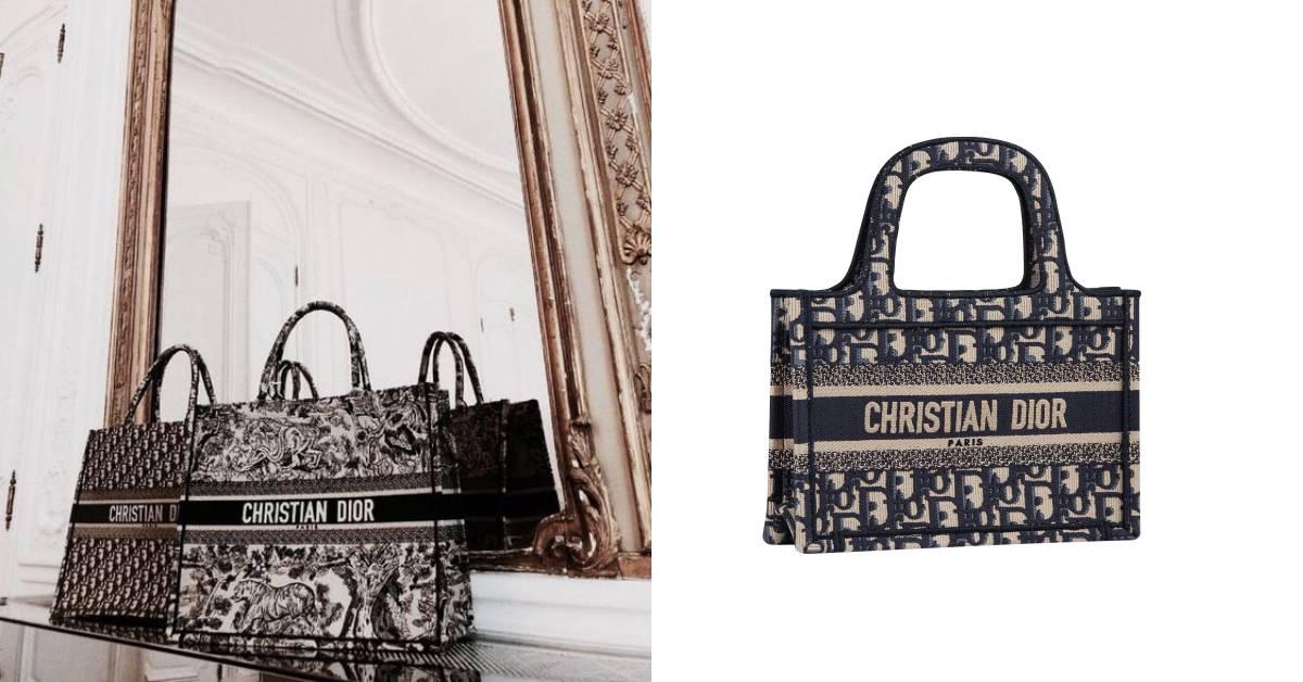 Dior賣到缺貨的托特包推迷你款!像照過縮小燈,3款配色、2種尺寸誘惑你的荷包