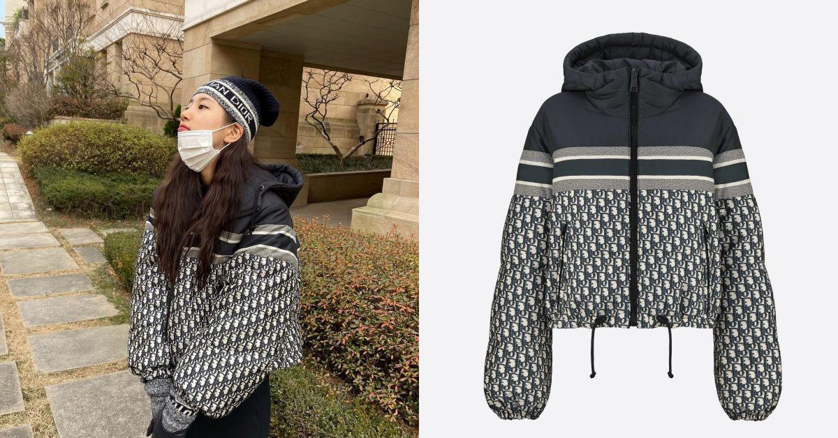 Moncler羽絨服遇強敵!Dior老花設計太時髦,保暖還能顯腿長,國民初戀秀智都搶穿!