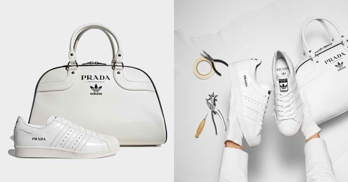 adidas x Prada聯名曝光!結合兩大經典設計,小白鞋、保齡球包全球限量700組