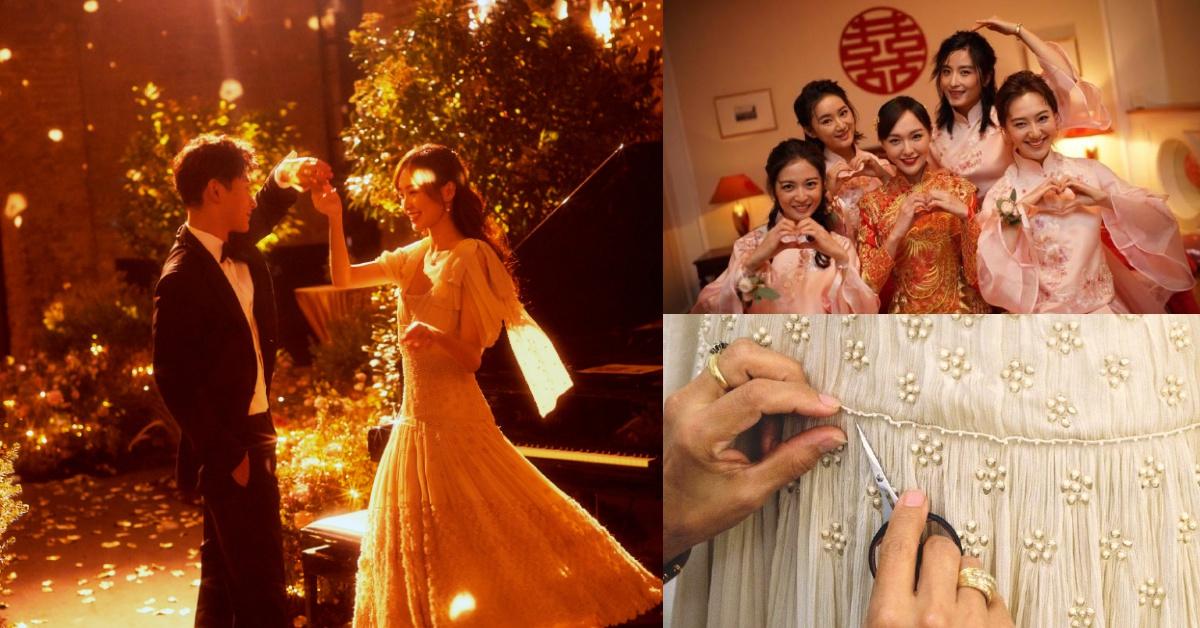 王子公主婚禮更多細節照片曝光!唐嫣的仙氣禮服花了650個小時手工才完成