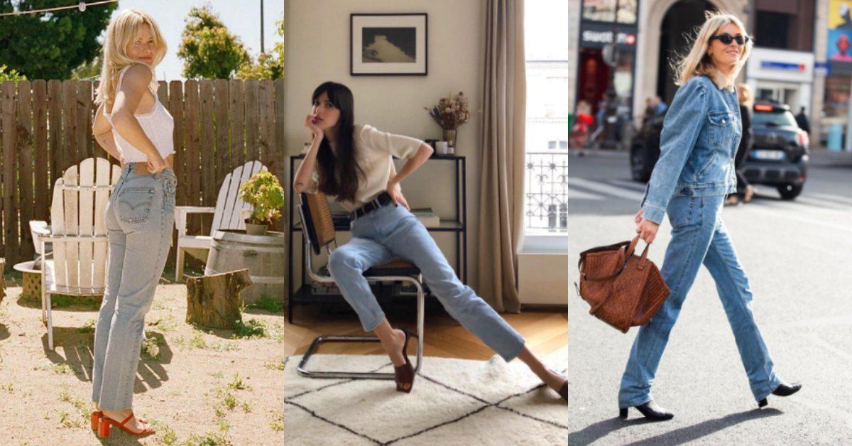 直筒牛仔褲該怎麼穿?最會穿衣服的法國女人,告訴你5個Tips!