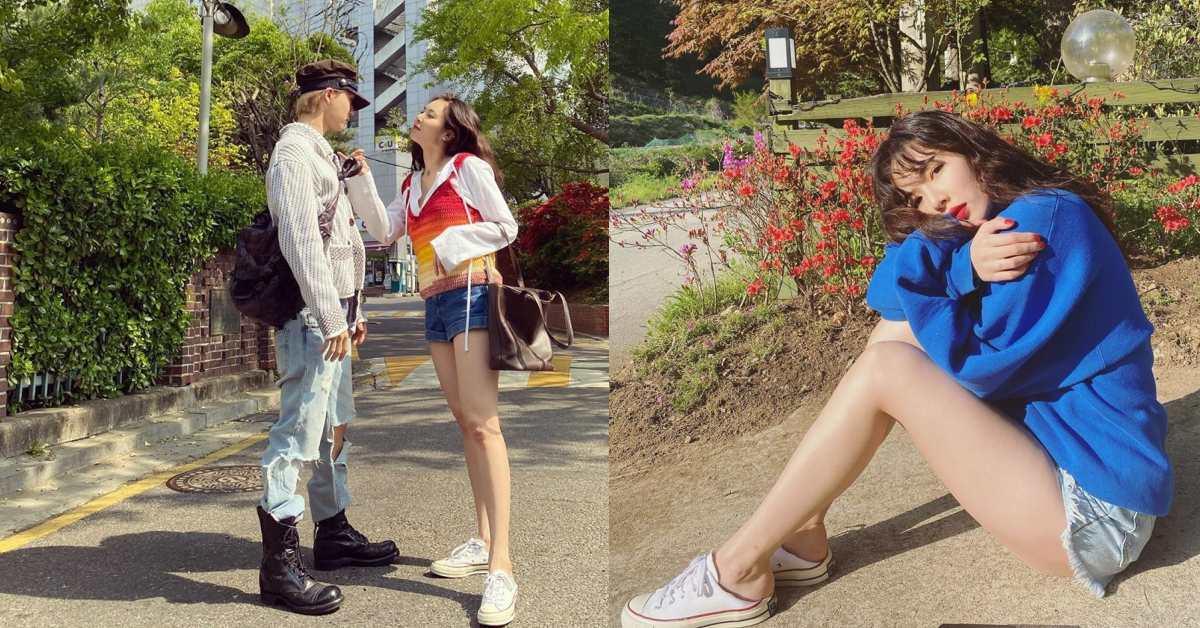 泫雅的逆天長腿鞋是這雙?Converse搭上牛仔短褲再加這一招,超模腿一秒就能擁有!