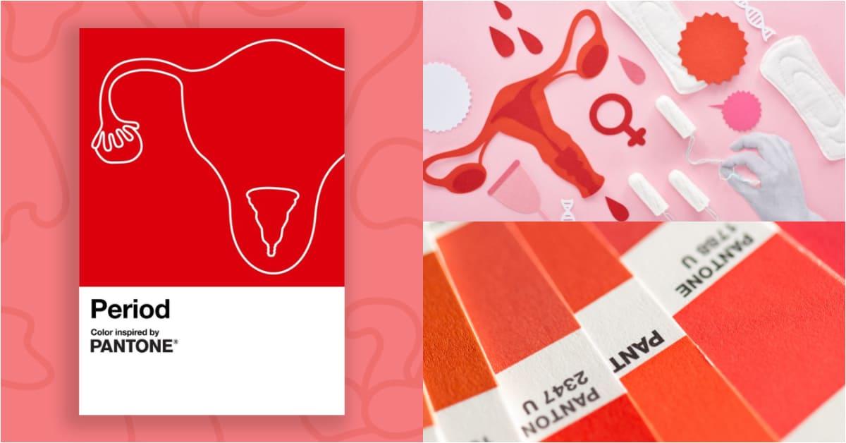 """Pantone最新色票「月經紅 Period」!女性都應該感到驕傲,""""那個來""""不再見不得人"""