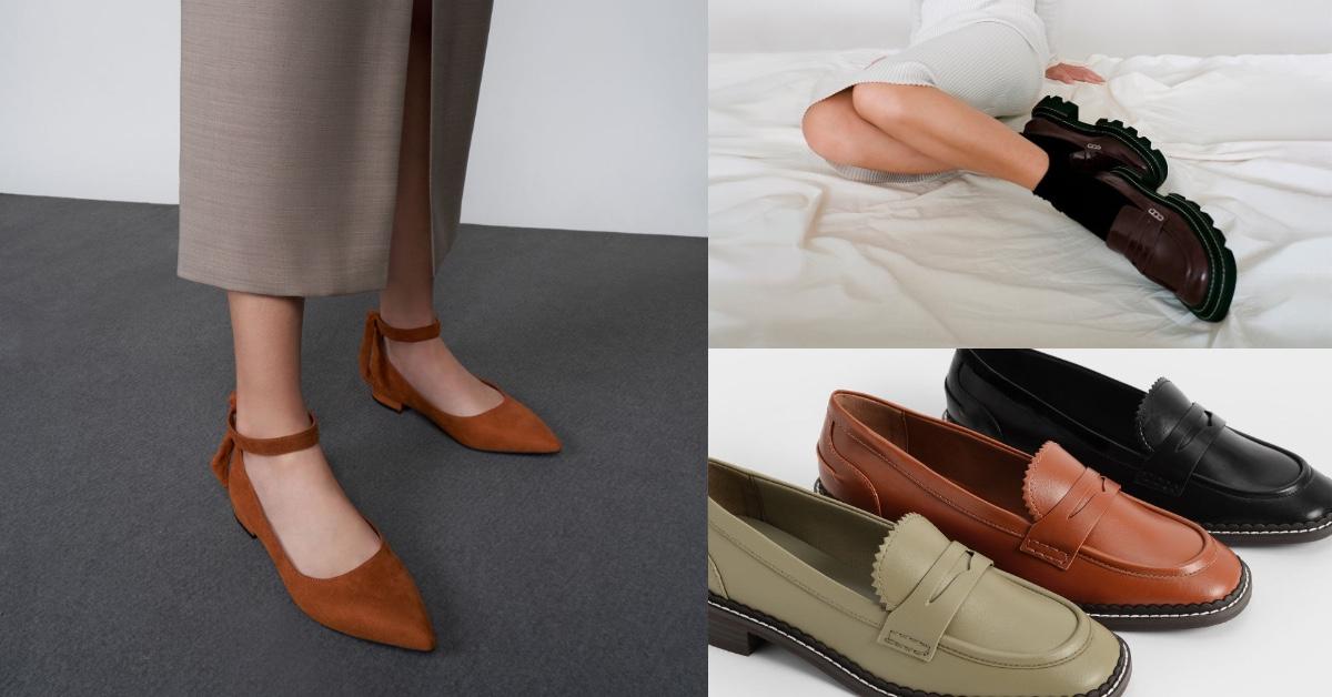 Charles & Keith 2021秋季新品鞋款推薦Top10!厚底樂福、麂皮平底鞋、襪套靴...全都3000元有找!