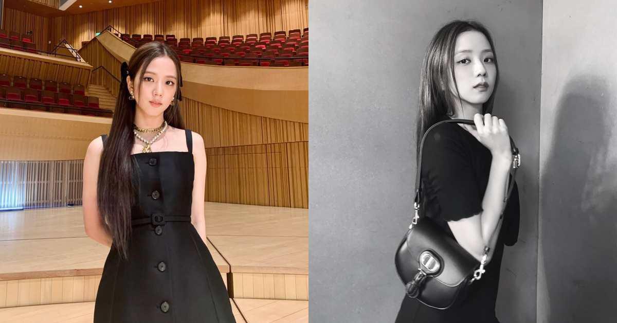 黑色細肩洋裝怎麼穿才時尚?BLACKPINK智秀靠「這招」,讓一件簡約洋裝變得超時髦!