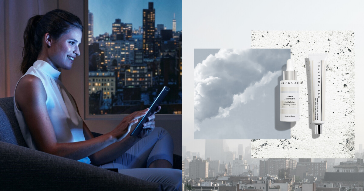 保養品無法吸收是手機造成的?「抗藍光」精華液噴霧讓你遠離肌膚老化