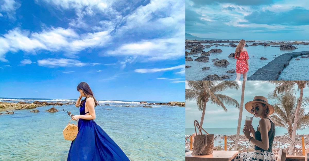 台東網美都到「富山護魚區」了!台東唯一海水浴場,水乾淨到像在馬爾地夫