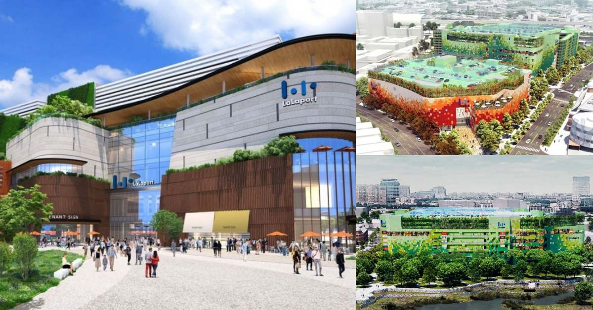 台中三井「LaLaport」2023年將登場,台中火車站6分鐘路程,公園綠地 + 270家店一天哪逛得完?!