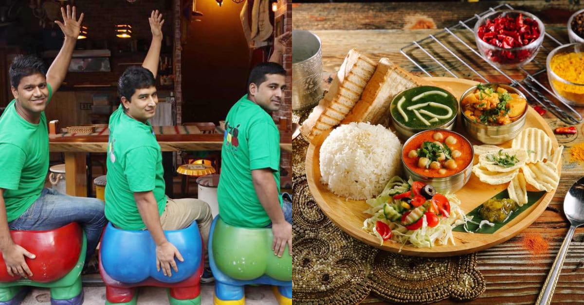 中山區美食推薦「三個傻瓜印度蔬食餐廳」,打造寶萊塢般華麗場景,招牌全麥烤吐司值得一試