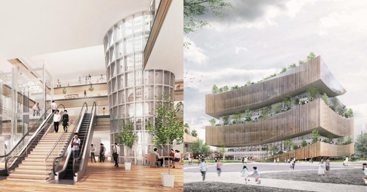 桃園市立新圖書總館設計美爆!網友:北投圖書館都被比下去了!