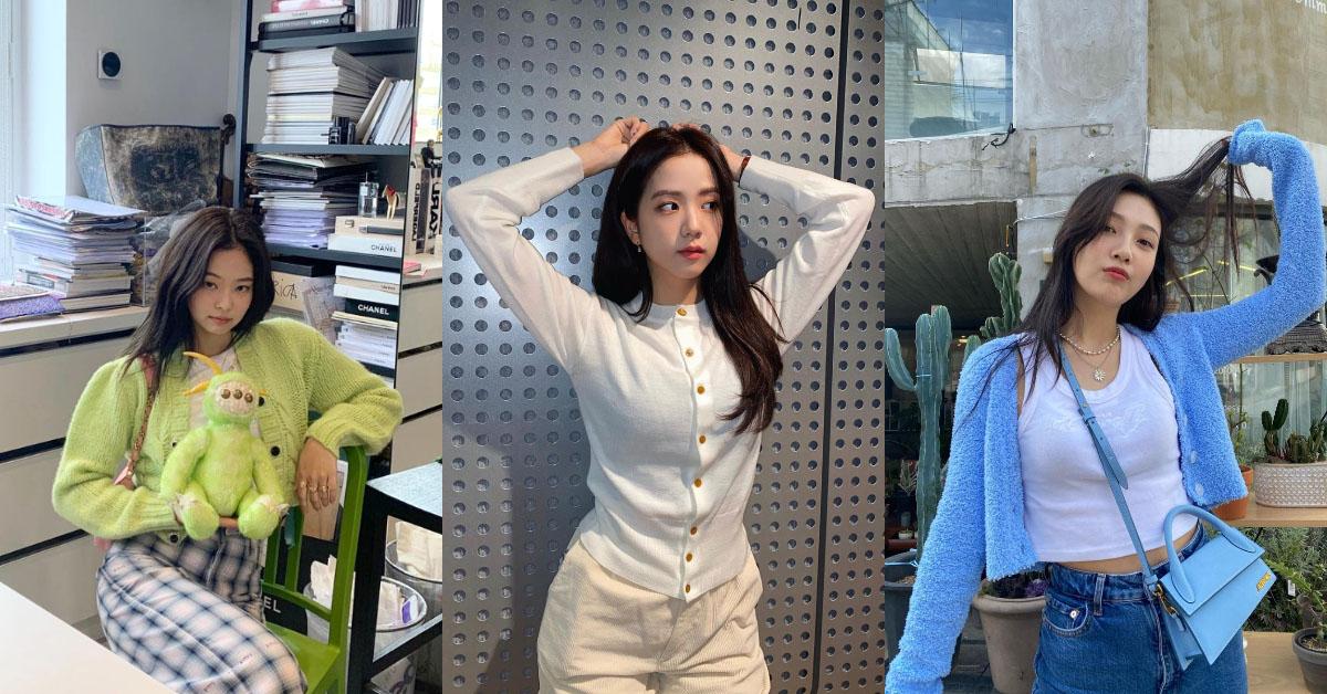 Blackpink Jisoo最愛穿的單品是這個!針織小外套一衣三穿,「戀愛系穿搭」讓你從秋季一路穿到冬季!
