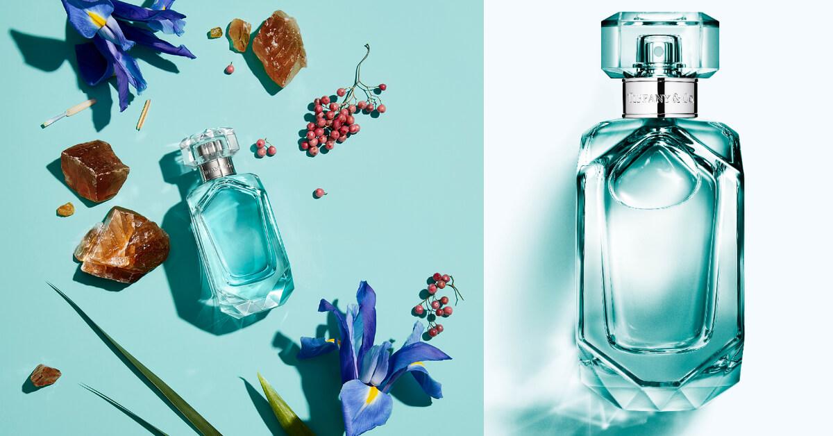 穿著Tiffany藍的瓶身,配戴高雅訂製頸環,Tiffany & Co.同名晶鑽淡香精華麗上市