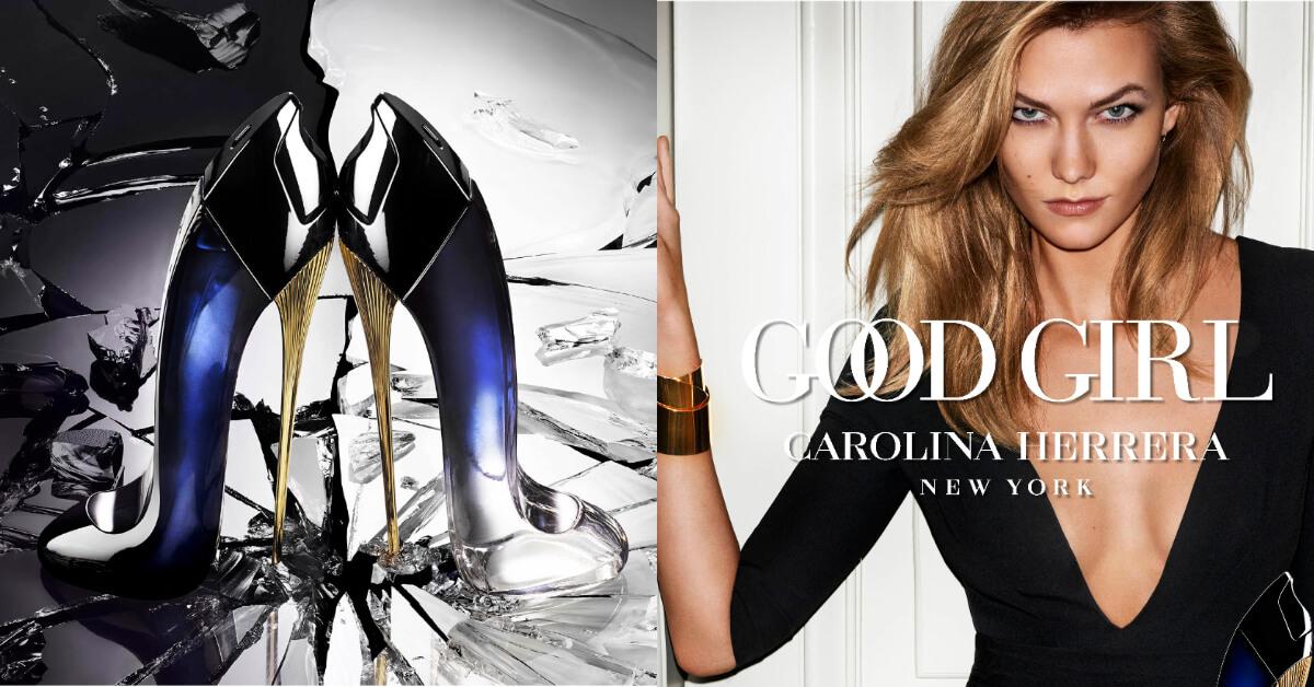 歐洲最賣前三名,由超模卡莉克勞斯代言CH Good Girl 秘密女性淡香精,根本是灰姑娘玻璃鞋翻版