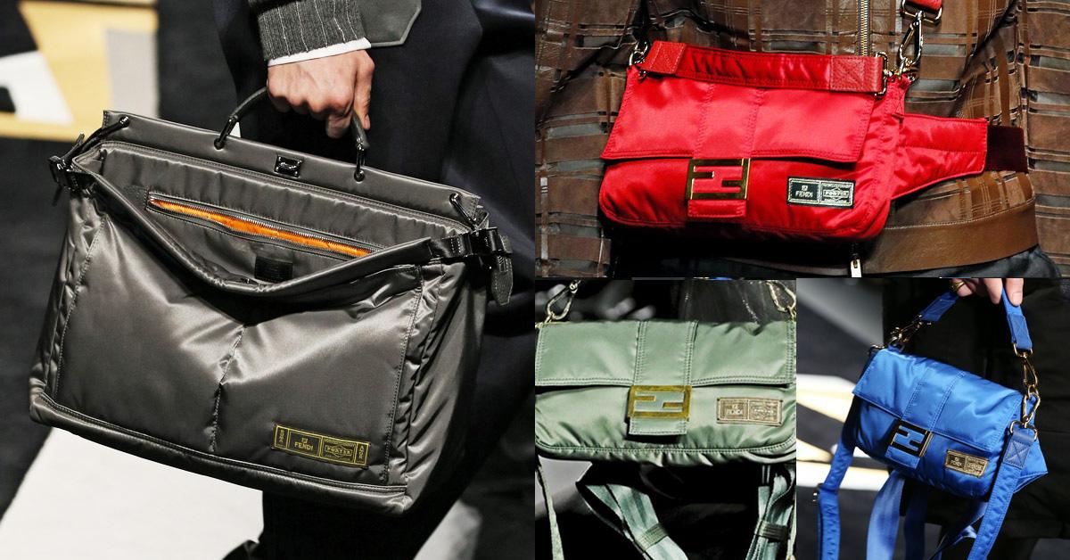 Fendi聯手日本品牌Porter打造潮包!時髦人士們預備開搶