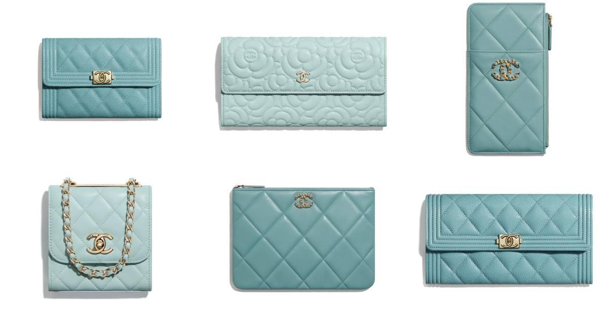美得太誇張了!Chanel溫柔湖水綠配色10款錢包、手拿包、卡夾...推薦