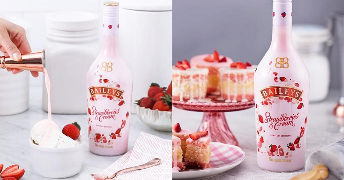 粉紅x草莓就是絕配!IG超火英國限定貝禮詩「草莓奶酒」Costco也買得到