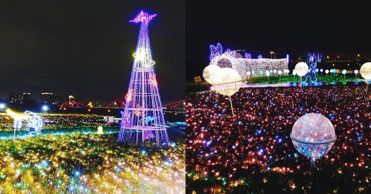 Teamlab等級認證!50萬顆LED燈打造露天燈海,「板橋蝴蝶公園」美的驚人