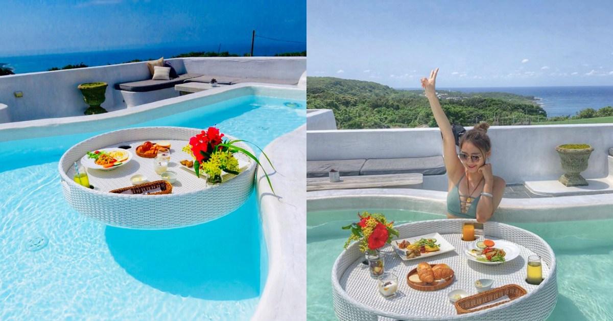 這就是仙女的待遇!不用遠飛峇里島,台灣墾丁也能當美人魚吃「漂浮早餐」